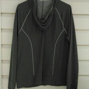 L L Bean grey zip up sweatshirt